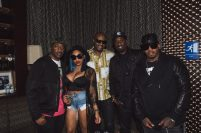 112 and Brooke Valentine at 112's 'Q Mike Slim Daron' Album Listening Session