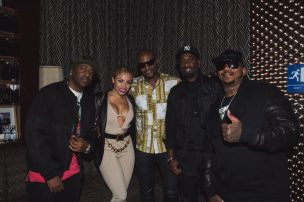 112 and Charisse Mills at 112's 'Q Mike Slim Daron' Album Listening Session