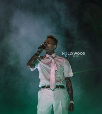 Chris Brown at the HOAFM Album Release in LA