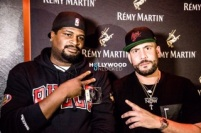 DJ Drama and Dre Tha Oneda at the Remy Producers Season 4 LA Preliminary
