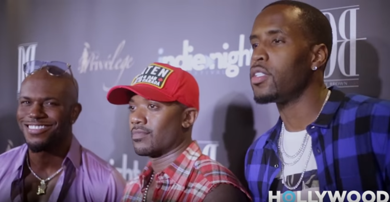 Milan Christopher, Ray J and Safaree Samuels at Raydemption LA Premiere Screening