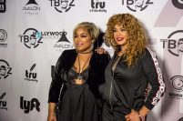 T-Boz and Faith Evans at T-Boz Unplugged 2017 in LA