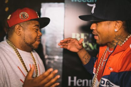 Twista and Allen Iverson at The Allen Iverson All Star Experience